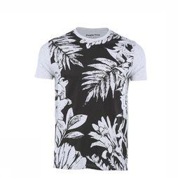 People Tree T-Shirt Jungle Print Lichtgrijs Mengeling/Assortiment Bloem