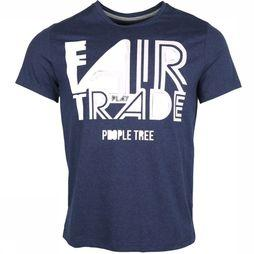 People Tree T-Shirt Fair Trade Donkerblauw