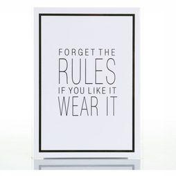 Juttu Wenskaarten Forget The Rules If You Like It Wear It Geen kleur