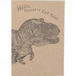 CARTE DE VOEUX PAP HELLO PLEASED TO EAT YOU