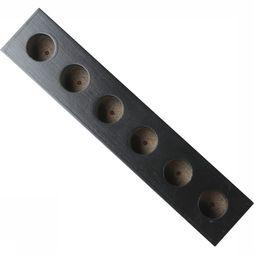 Accessoire Black Lacquared Wooden Stand 6 Tubes