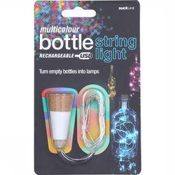 Suck UK Gadget Multicolour Bottle String Light Blanc/Chameau