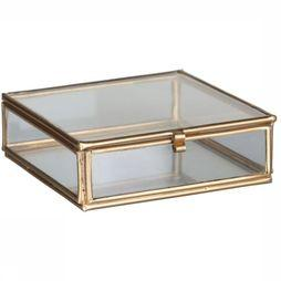 Madam Stoltz Quadratic Glass Box Goud
