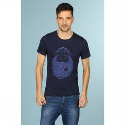 Bask in the Sun T-Shirt Smoking Pipe Donkerblauw