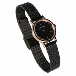 Mr. Boho Montre Mini Metallic Noir/Rose Clair