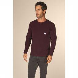 Makia T-Shirt Square Pocket Bordeaux