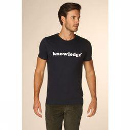 Knowledge Cotton Apparel T-Shirt 10-534 Donkerblauw