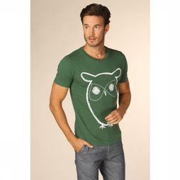 Knowledge Cotton Apparel T-Shirt 10184 Vert Foncé