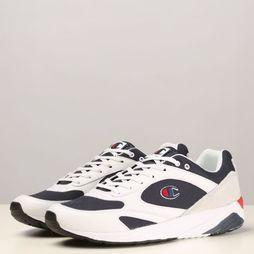 Champion Sneaker Torrence Men Low Blanc/Bleu Foncé