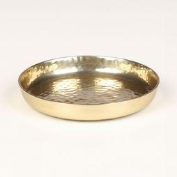 VT Wonen Bougeoir Plate Metal Gold 12 cm Or