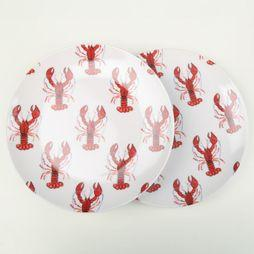 Fabienne Chapot Home Servies Set 2 Breakfast Plates Lobster Wit/Rood