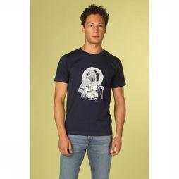 Bask in the Sun T-Shirt Walrus Donkerblauw
