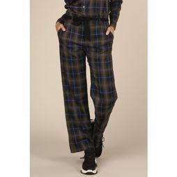 Co'Couture Broek Mardi Check Donkerblauw/Middenkaki