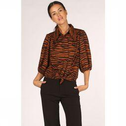 Co'Couture Blouse Java Tiger Puff Rouille/Noir