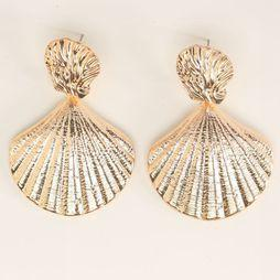 Club Manhattan Boucle D'oreille Sea Shell Studs Or