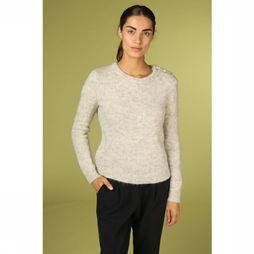 Orfeo Pull Cerise Gris Clair Mélange