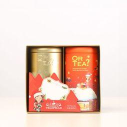 Or Tea? Kerstcollectie Thee Combo Box Gingerbread Orange Golden Apple Pie Middenrood/Goud