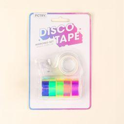 FCTRY Accessoire Bureau Disco Tape Mirrored Set of 6 Assortiment
