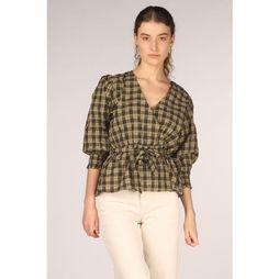 Co'Couture Blouse New Trever Check Wrap Zandbruin/Zwart