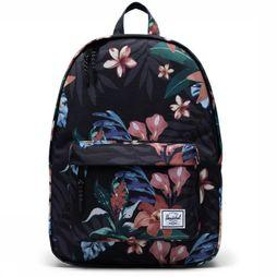 Herschel Supply Sac À Dos Classic Mid Volume 18 L Noir/Assortiment Fleur