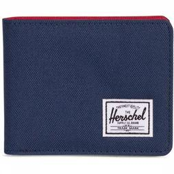 Herschel Supply Portefeuille Roy Coin Donkerblauw/Middenrood