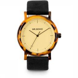 Mr. Boho Montre Acetate Noir/Blanc Cassé