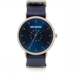Mr. Boho Montre Casual Metallic Bleu Moyen