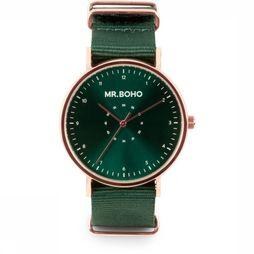 Mr. Boho Montre Casual Metallic Vert Moyen