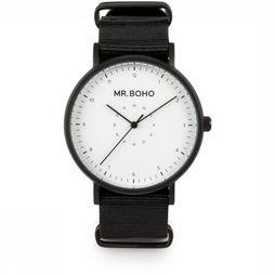 Mr. Boho Montre Casual Metallic Noir/Blanc