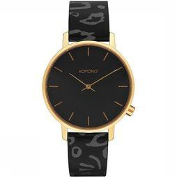 Komono Montre Harlow Animal Noir
