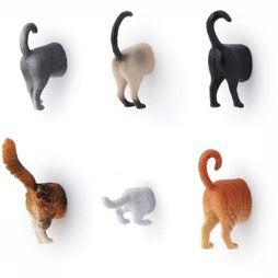 Kikkerland Gadget Cat Butt Magnets Set Of 6 Pas de couleur