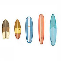 Kikkerland Surf'S Up Magnets Assortiment