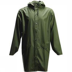 Rains Jas Long Jacket Middenkaki