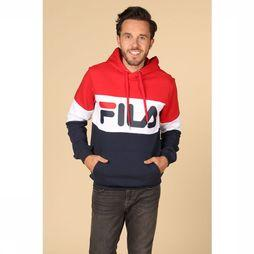 Fila Trui Night Blocked Middenrood/Donkerblauw