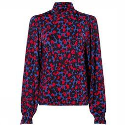 Fabienne Chapot T-Shirt Billy Turtleneck Bleu Roi/Rouge