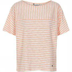 Numph T-Shirt Kaydence Orange/Blanc