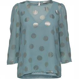Selected Blouse Sf Valora 7/8 Lichtgroen/Zilver