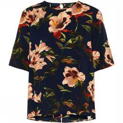 Yas Blouse 26012342 Donkerblauw/Assortiment Bloem