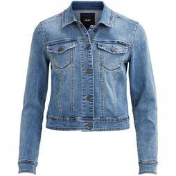 Object Blazer Win New Her Ls Denim Bleu Clair