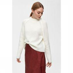 Selected Trui Bandani Ls Knit Cropped High Neck Gebroken Wit