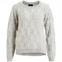 Pull Fluffy Ls Short Knit
