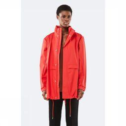 Rains Manteau Long W Rouge