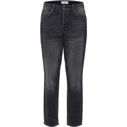 Selected Jeans Sf Frida Hr Mom Fade Black Zwart