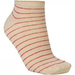 Becksöndergaard Chaussette Dollie Stripe Or/Rouge