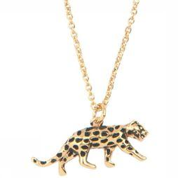 All The Luck In The World Ketting Leopard Goud