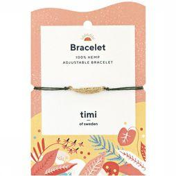 Timi Armband Slim Feather Hemp Goud