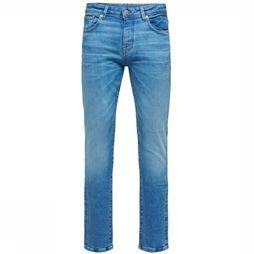 Selected Jeans Slhslimleon Middenblauw