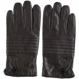 Selected Handschoen New Biker Leather Donkerbruin