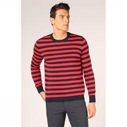 Knowledge Cotton Apparel Trui 80587 Donkerblauw/Middenrood