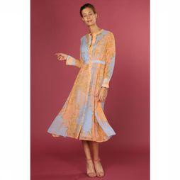 Numph Robe Kyndall Orange/Bleu Clair